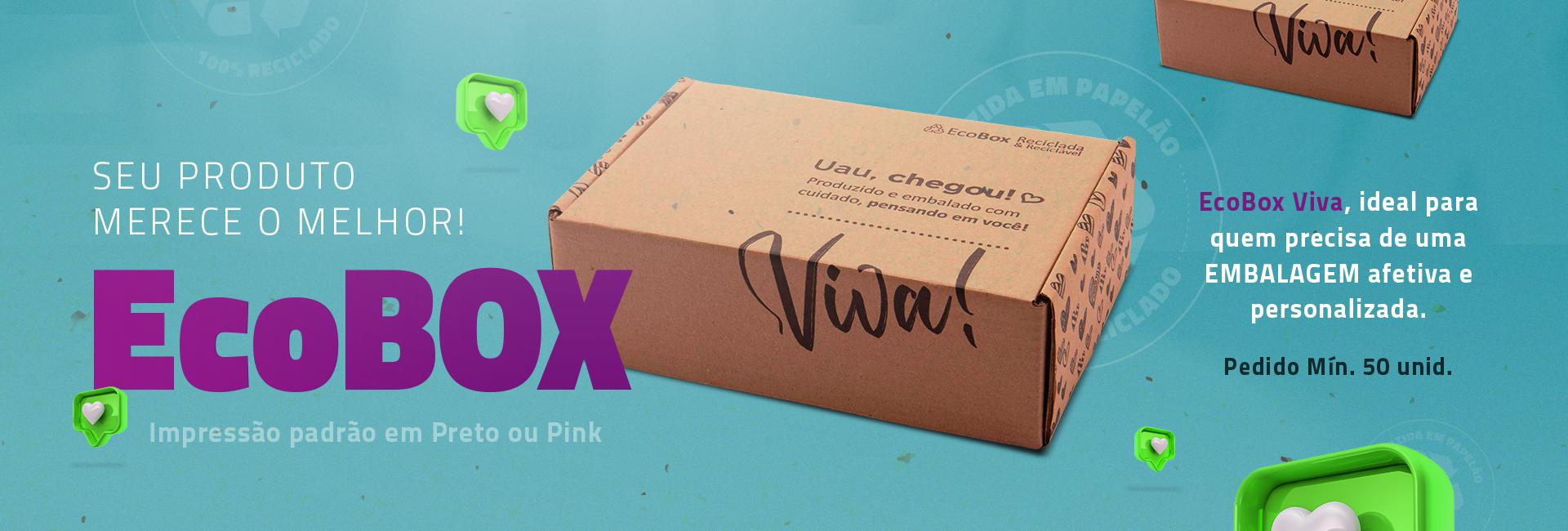 embalagem de ecommerce ecologica e personalizada com a marca do cliente. Embalagem ecologica e economica.